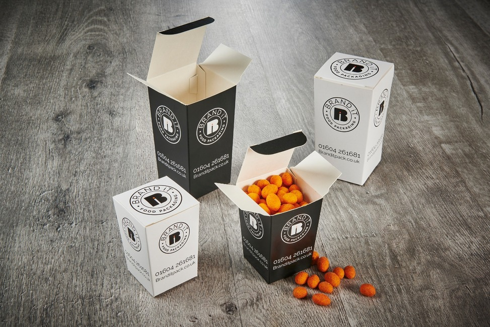 Branded nested tall food boxes