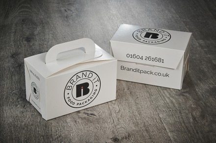 Flat pack, branded children's meal box