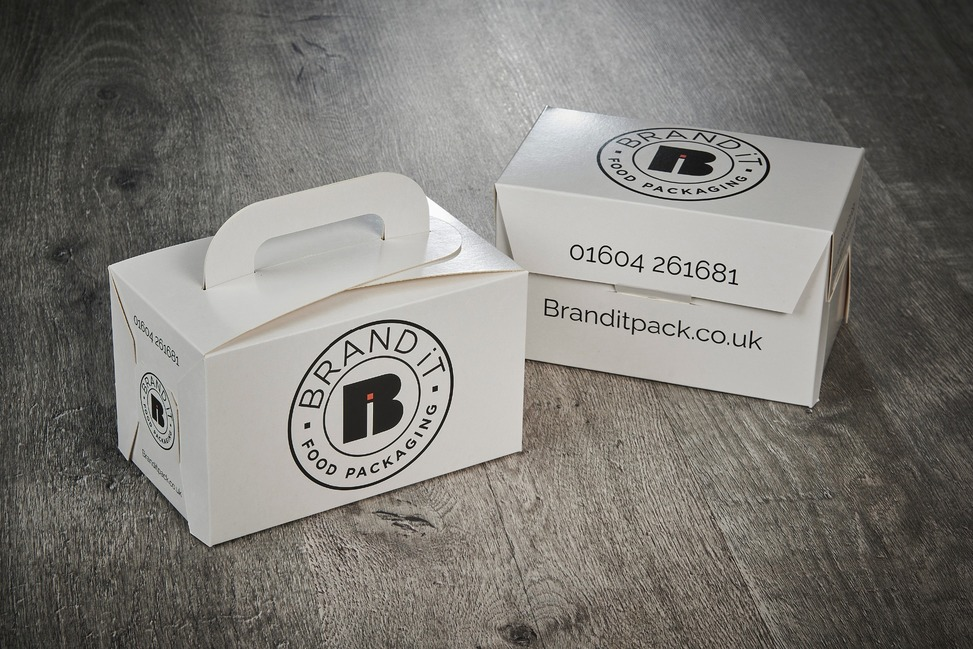 Branded, flat pack kid's meal boxes